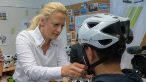 E-Bike Pedelec Sicherheit auf dem Fahrrad Fahrradhelm